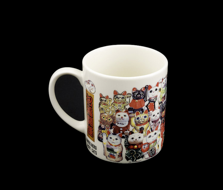 tasse mug manekineko chat porte bonheur japonais maneki neko 6970. Black Bedroom Furniture Sets. Home Design Ideas