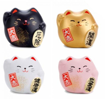 chat japonais maneki neko objets kawaii figurine chat porte bonheur. Black Bedroom Furniture Sets. Home Design Ideas