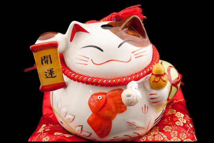 Chats porte bonheur japonais - Porte bonheur chinois chat ...