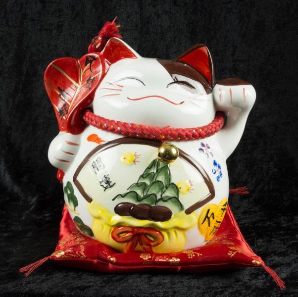 grande tirelire chat chinois ou japonais en ceramique chat porte bonheur achat chat porte. Black Bedroom Furniture Sets. Home Design Ideas