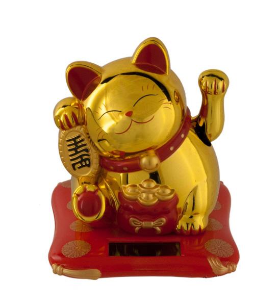 Chat prosperite japonais maneki neko dore chat porte bonheur chat japonais maneki neko - Porte bonheur chinois chat ...