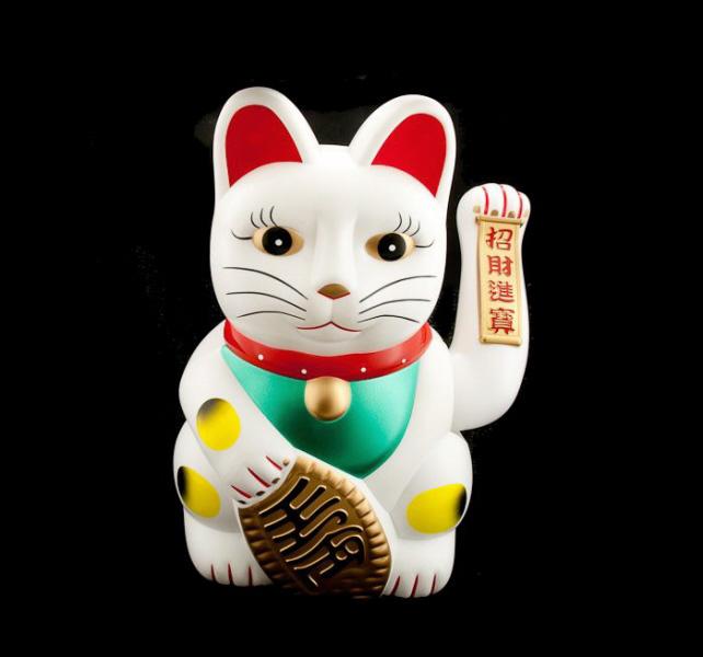Chat porte bonheur chat japonais maneki neko chat porte bonheur manekineko - Porte bonheur chinois chat ...