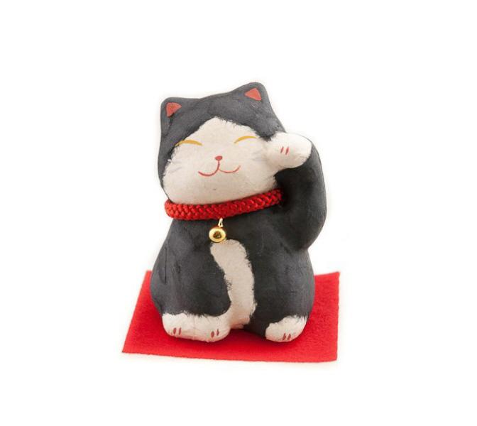 Chat porte bonheur japonais en washi chat porte bonheur chat japonais maneki neko chat - Porte bonheur chinois chat ...