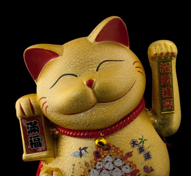grand chat japonais en ceramique chat porte bonheur achat chat japonais. Black Bedroom Furniture Sets. Home Design Ideas