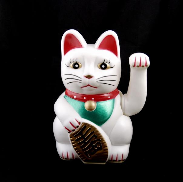 Chat prosperite japonais maneki neko blanc chat porte bonheur chat japonais maneki neko - Porte bonheur chinois chat ...